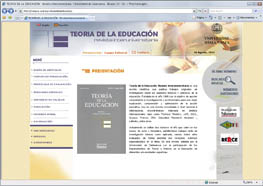 Captura de la web de Revista Teor�a de la Educaci�n